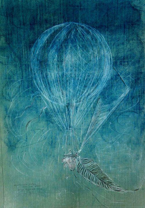 Mystérieux ballon avec plume