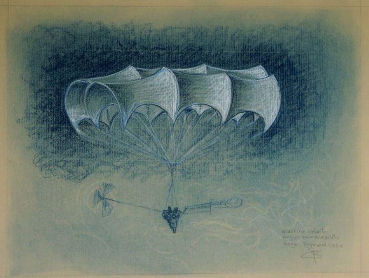 Machine volante avec nacelle